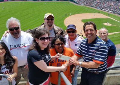 Exciting day at Comerica Park with many FAWN supporters cheering on the Tigers and raising $1,300 for FAWN.