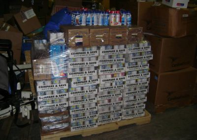 FAWN Nutritional suplements awaiting shipment to the needy at World Medical Relief
