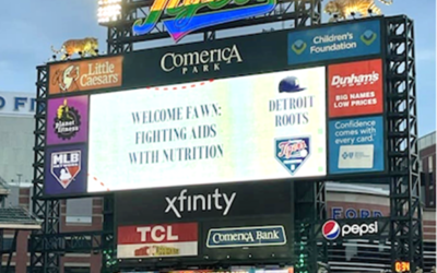 Friends of Fighting AIDS with Nutrition attend Detroit Tigers Pride Night